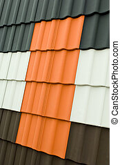 Samples of Roof shingles