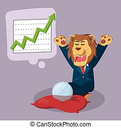 business lion foresee great income
