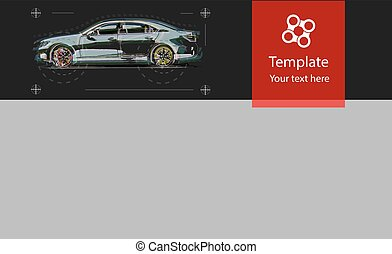 Web template for car service . Design graphic, concept website elements layout.