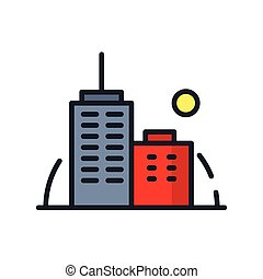 office building icon color