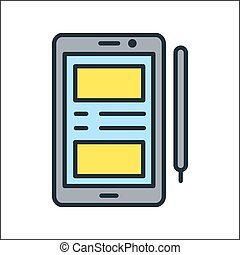 smartphone icon color illustration design
