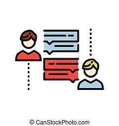 personal conversation icon color