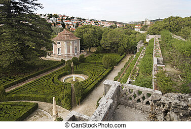 Royal Garden of Caxias - View of the french inspired...