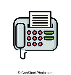 office fax icon color