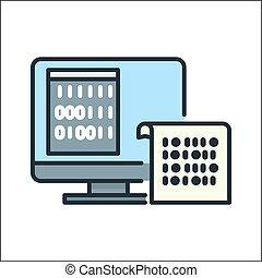 binary code algorithm icon color