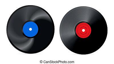 retro vinyl record - vector