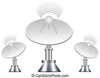 Vector illustration of antenna on white background