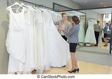 choice of rented gowns