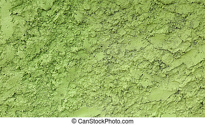 Green painted stucco wall texture background - Seamless...