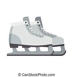 Ice Skating Shoes - Figure ice skating shoes isolated on...