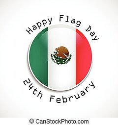 Mexico Flag Day background - Illustration of Mexico Flag for...