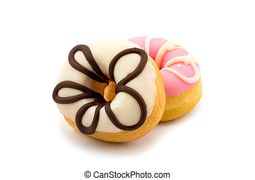 Tasty doughnuts with icing