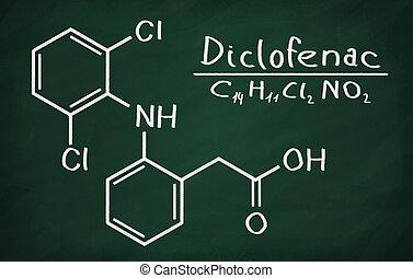 modelo,  diclofenac, estructural
