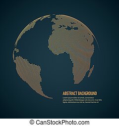 Digital world globe, cyberspace universe earth. data international, globalization vector concept