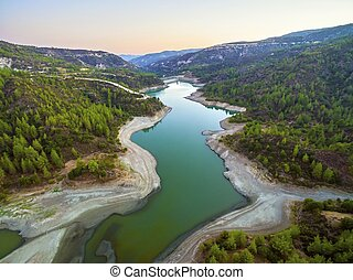 Aerial view of Diarizos river, Cyprus - Aerial view of...