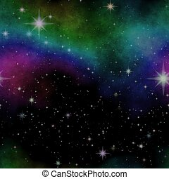 Space illustration with stars and nebula