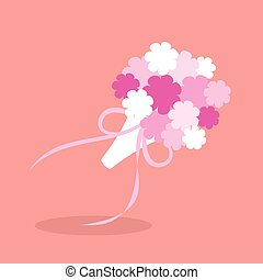 Bridal bouquet in flat style. Vector illustration