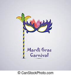 Mardi gras carnival background - Illustration of elements...