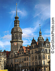 Dresden, Germany - Majestic view on Saxony Dresden Castle...