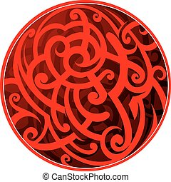 Maori style circle tattoo - Maori tribal tattoo as circle...