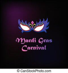 Mardi gras carnival background - Illustration of mask for...