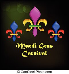 Mardi gras carnival background - Illustration of fleur for...