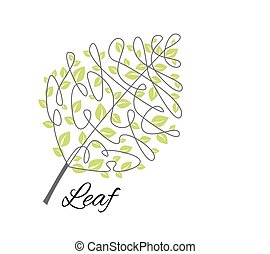 Vector decorative leaf