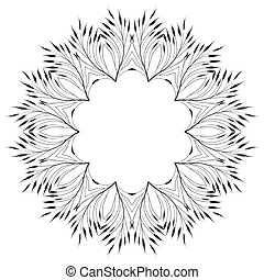 Leaves Ornament Pattern - Vector floral ornament pattern,...