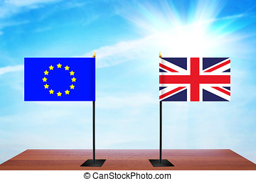 Concept of diplomatic talks between European Union and Great...