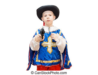 boy in a suit Musketeers - The photo depicts a boy in a suit...