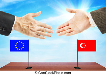 Friendly relations between European Union and Turkey....