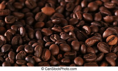 Carefully roasted coffee beans - Grained coffee fill up...