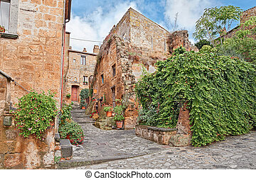 Civita di Bagnoregio, Viterbo, Lazio, Italy: the old town of...