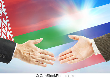 Friendly relations between Russia and Byelorussia....