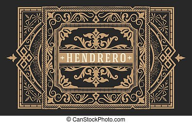 Premium Quality card. Baroque ornaments and floral details....