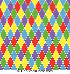 Harlequin parti-coloured pattern