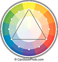 Color Triangle - Multicolor spectral circle from 12 segments...