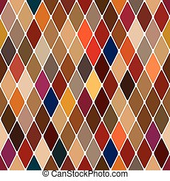 Harlequin baroque seamless pattern