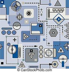Mechanical seamless pattern 2.2