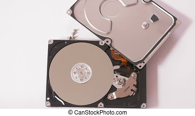 Hdd with cover - Memory hardware with top part isolated on...