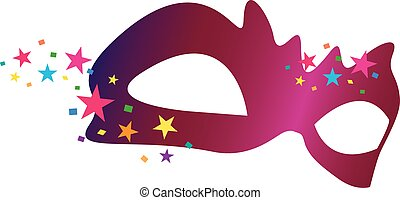 Masque Color bright decorative background vector...