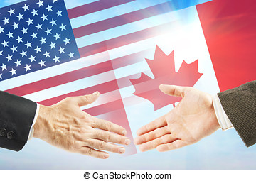 Friendly relations between United States and Canada....