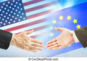 International policy. Friendly relations between USA and...