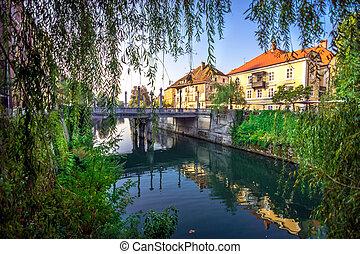 Romantic Ljubljana city center