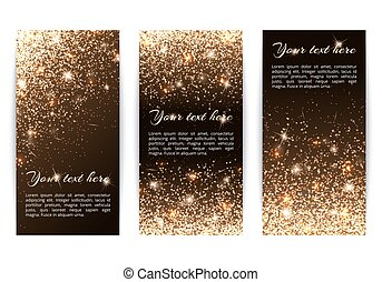 Set of vertical banners black background - Set of banners...
