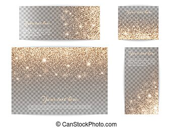 Set of banners of different size transparent background -...