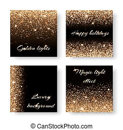 Set bling background - Set of abstract backgrounds with...