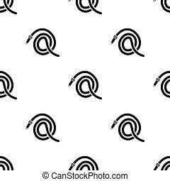 Hose icon vector icon black. Single silhouette fire...