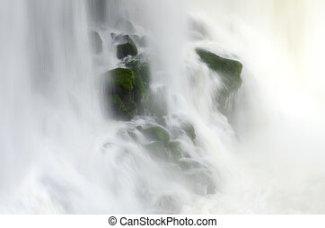 iguacu waterfalls in Brazil - landscape to iguacu waterfalls...