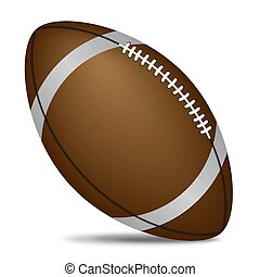 isolated rugby ball - Isolated rugby ball, vector art...